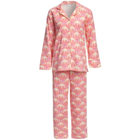 Needham Lane Flannel Pajamas - Cotton, Long Sleeve (For Women) in Marni