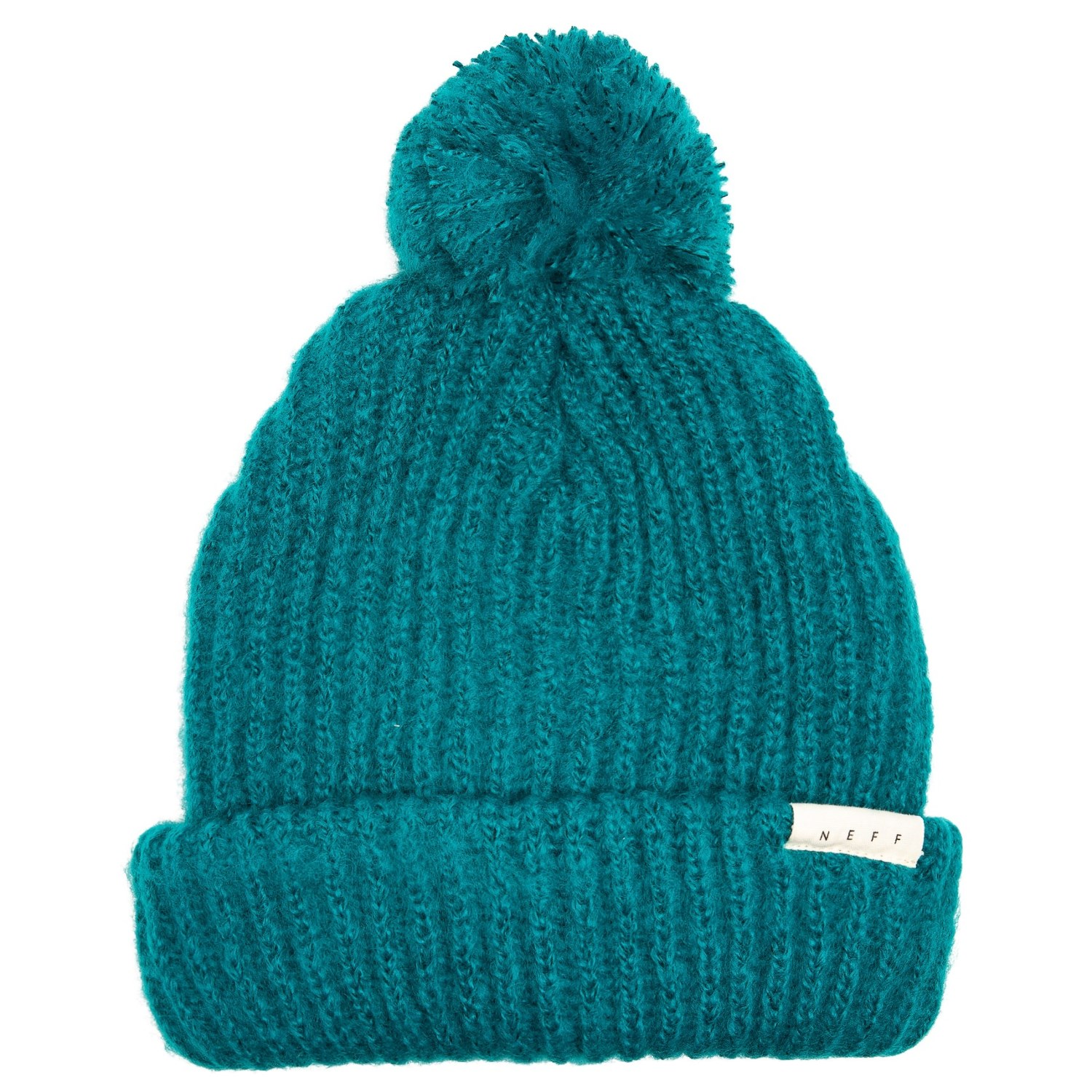 ad56ddde543 Neff muffin beanie with pom for women in teal jpg 1500x1500 Pom beanies neff