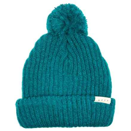 2950df8ab90446 Neff Muffin Beanie with Pom (For Women) in Teal - Closeouts