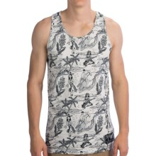 Neff Retro Hula Tank Top - Cotton (For Men) in White - Closeouts
