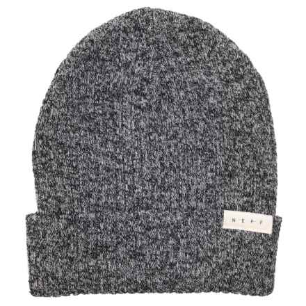 4d8f720ca38 Neff Ride Beanie (For Men and Women) in Black White Heather - Closeouts