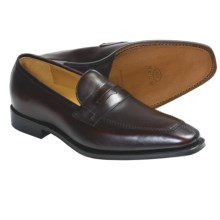 Neil M Harvard Penny Loafer Shoes - Leather (For Men) in Bordeaux - Closeouts