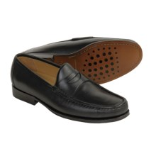 Neil M Norman Penny Loafer Shoes - Leather (For Men) in Black - Closeouts