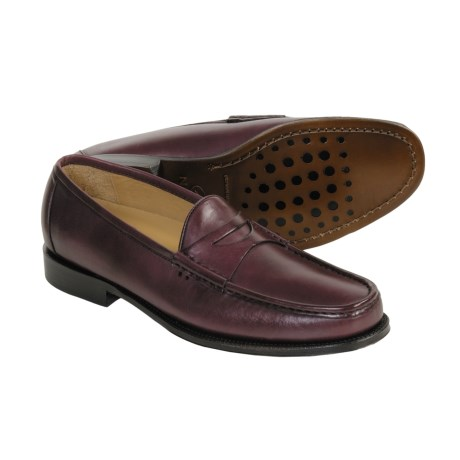Neil M Norman Penny Loafer Shoes - Leather (For Men) in Cordovan