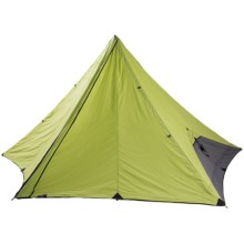 Nemo Pentalite Pyramid Shelter - 4-Person, 3-Season in Birch Leaf Green - Closeouts