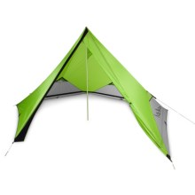 Nemo Pentalite Pyramid Tent with Footprint and Pawprint - 4-Person, 3-Season in Birch Leaf Green - Closeouts