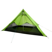 Nemo Pentalite Pyramid Tent with Footprint and Wedge - 4-Person, 3-Season in Birch Leaf Green - Closeouts