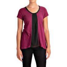 Neon Buddha Adventure T-Shirt - Scoop Neck, Short Sleeve (For Women) in Bordeaux Wine - Closeouts
