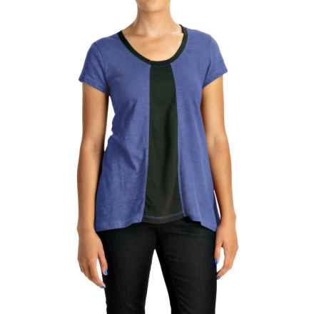 Neon Buddha Adventure T-Shirt - Scoop Neck, Short Sleeve (For Women) in Deep Royal - Closeouts
