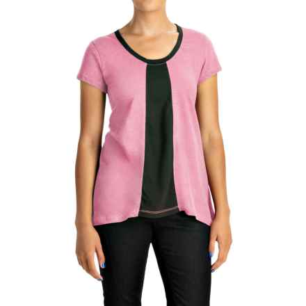 Neon Buddha Adventure T-Shirt - Scoop Neck, Short Sleeve (For Women) in Pacific Pink - Closeouts