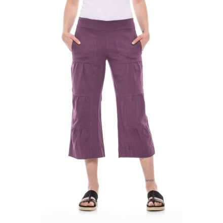 Neon Buddha Ain't Seen Nothing Yet Jersey Capris (For Women) in Summer Plum - Closeouts