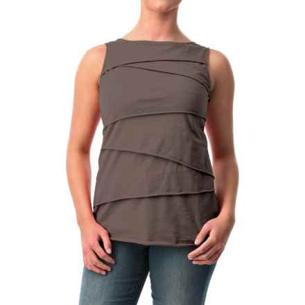 Neon Buddha Ardee Tiered Cotton Tank Top (For Women) in 112 Sustainable Charcoal - Closeouts
