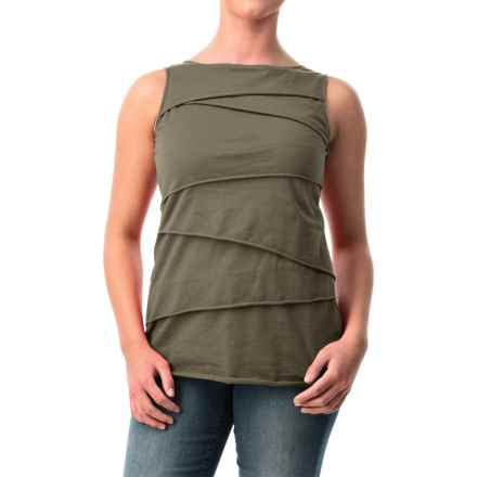Neon Buddha Ardee Tiered Cotton Tank Top (For Women) in 159 Reclaimed Earth - Closeouts