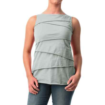 Neon Buddha Ardee Tiered Cotton Tank Top (For Women) in 208 Ice Water - Closeouts