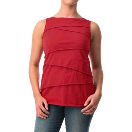 Neon Buddha Ardee Tiered Cotton Tank Top (For Women) in 262 Vibrant Red - Closeouts