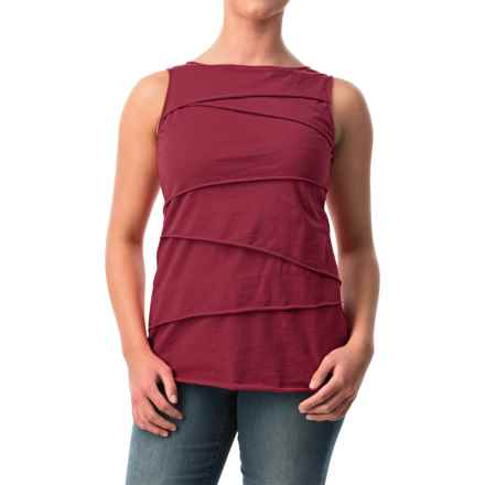 Neon Buddha Ardee Tiered Cotton Tank Top (For Women) in 416 Wine - Closeouts