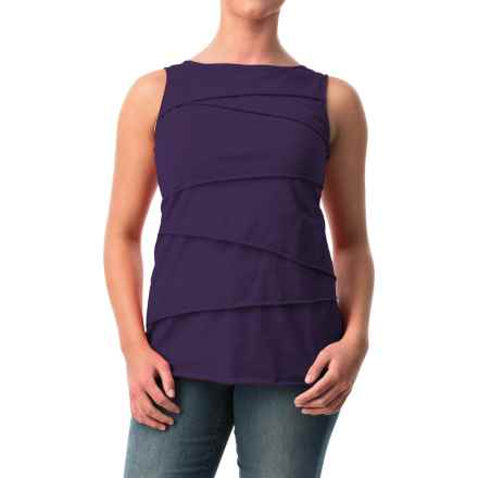 Neon Buddha Ardee Tiered Cotton Tank Top (For Women) in 947 Aurora Purple - Closeouts