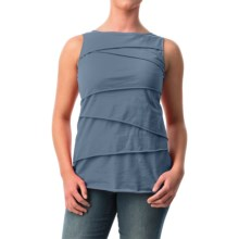 Neon Buddha Ardee Tiered Cotton Tank Top (For Women) in Denim Blue - Closeouts