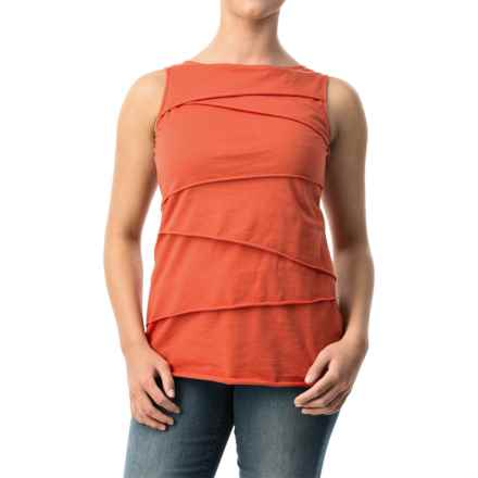 Neon Buddha Ardee Tiered Cotton Tank Top (For Women) in Eco Orange - Closeouts