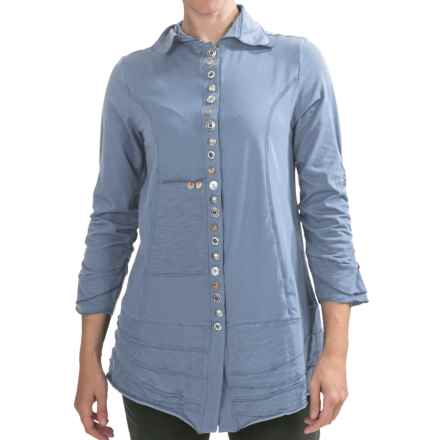 Neon Buddha Artisan Shirt - 3/4 Sleeve (For Women) in Lifestyle Blue - Closeouts