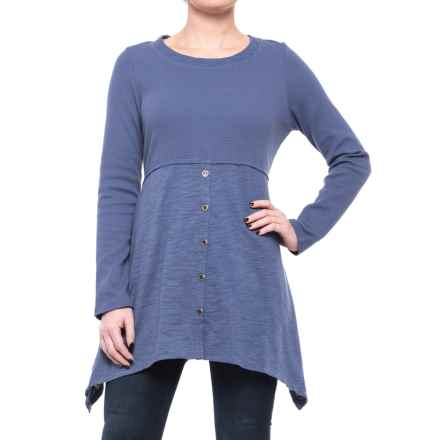 Neon Buddha Attention Tunic Shirt - Long Sleeve (For Women) in Denim Blue - Closeouts
