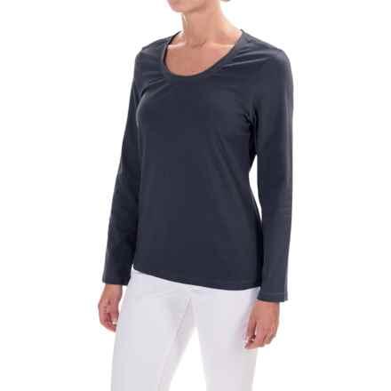 Neon Buddha Ballerina T-Shirt - Long Sleeve (For Women) in Navy Explorer - Closeouts