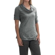 Neon Buddha Bayou Button Tunic Shirt - Short Sleeve (For Women) in Touch Of Grey - Closeouts