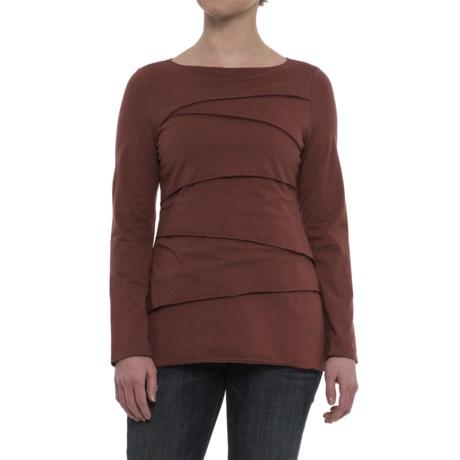 Neon Buddha Beijing Cotton Jersey Shirt - Long Sleeve (For Women) in Bold Spice