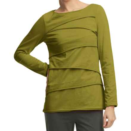 Neon Buddha Beijing Cotton Jersey Shirt - Long Sleeve (For Women) in Calabria Olive - Closeouts