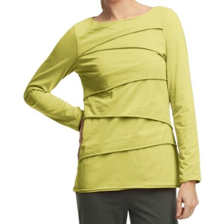 Neon Buddha Beijing Cotton Jersey Shirt - Long Sleeve (For Women) in Future Lime