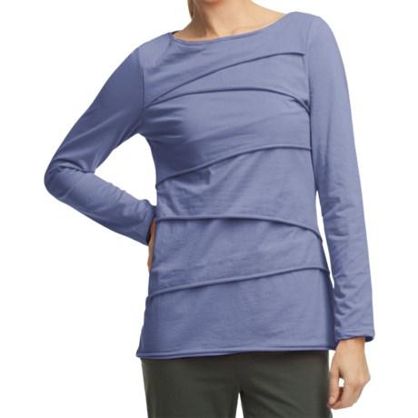 Neon Buddha Beijing Cotton Jersey Shirt - Long Sleeve (For Women) in Lifestyle Blue