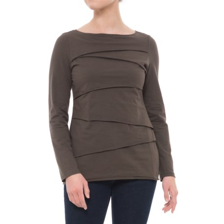 Neon Buddha Beijing Cotton Jersey Shirt - Long Sleeve (For Women) in Moroccan Cocoa