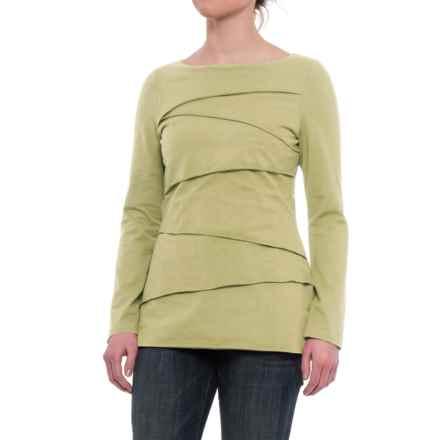 Neon Buddha Beijing Cotton Jersey Shirt - Long Sleeve (For Women) in Palm Green - Closeouts