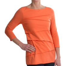 Neon Buddha Beijing Shirt - 3/4 Sleeve (For Women) in California Orange - Closeouts