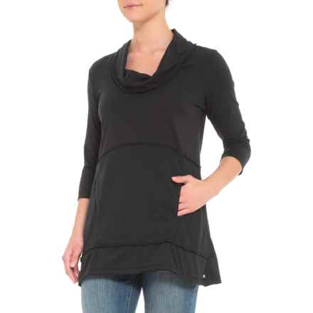 Neon Buddha Black Charlton Tunic Shirt - 3/4 Sleeve (For Women) in Black - Closeouts