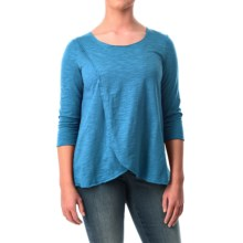 Neon Buddha Blackbird Cotton Flared Shirt - Long Sleeve (For Women) in Blue - Closeouts