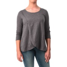 Neon Buddha Blackbird Cotton Flared Shirt - Long Sleeve (For Women) in Charcoal - Closeouts