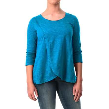 Neon Buddha Blackbird Cotton Flared Shirt - Long Sleeve (For Women) in Electric Blue - Closeouts