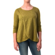 Neon Buddha Blackbird Cotton Flared Shirt - Long Sleeve (For Women) in Rich Moss - Closeouts