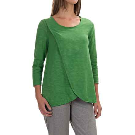 Neon Buddha Blackbird Cotton Flared Shirt - Long Sleeve (For Women) in Travel Green - Closeouts