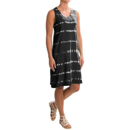 Neon Buddha Brodie Tie-Dye Dress - Crew Neck, Sleeveless (For Women) in Black - Closeouts