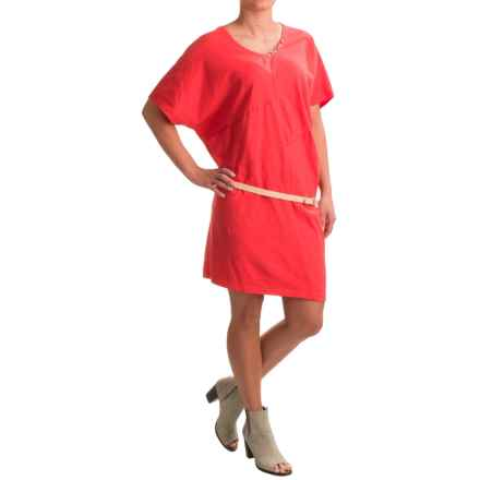 Neon Buddha Burbank Dress - Short Sleeve (For Women) in Cosmic Coral - Closeouts
