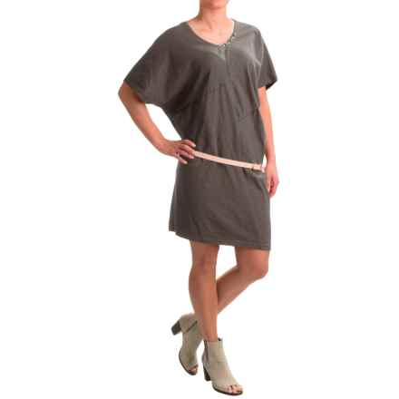 Neon Buddha Burbank Dress - Short Sleeve (For Women) in Sustainable Charcoal - Closeouts
