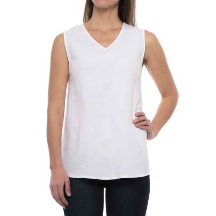 Neon Buddha Canyon Shirt - V-Neck, Sleeveless (For Women) in Barry White - Closeouts