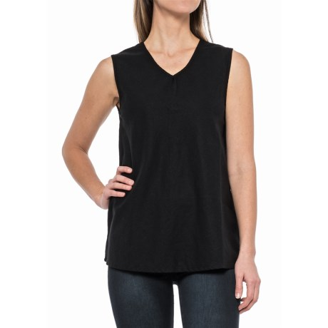 Neon Buddha Canyon Shirt - V-Neck, Sleeveless (For Women) in Black