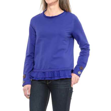 Neon Buddha Cape Side Shirt - Long Sleeve (For Women) in Deep Royal - Closeouts