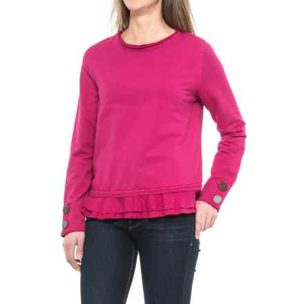 Neon Buddha Cape Side Shirt - Long Sleeve (For Women) in Pink Berry - Closeouts