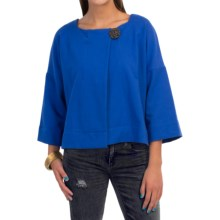 Neon Buddha Charming Jacket - French Terry, 3/4 Sleeve (For Women) in Deep Royal - Closeouts