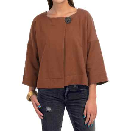 Neon Buddha Charming Jacket - French Terry, 3/4 Sleeve (For Women) in Modern Twig - Closeouts