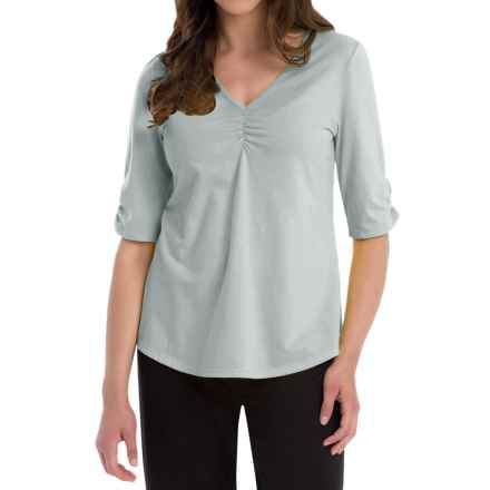 Neon Buddha Clementine Shirt - V-Neck, Elbow Sleeve (For Women) in Empire Ice - Closeouts